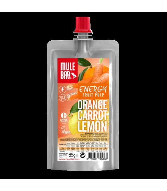 Органическое пюре морковь, апельсин и лимон 65 г MuleBar