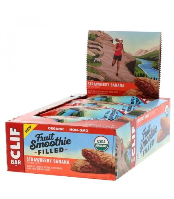 Clif Bar, Energy Bars, Fruit Smoothie Filled, Strawberry Banana 50 g