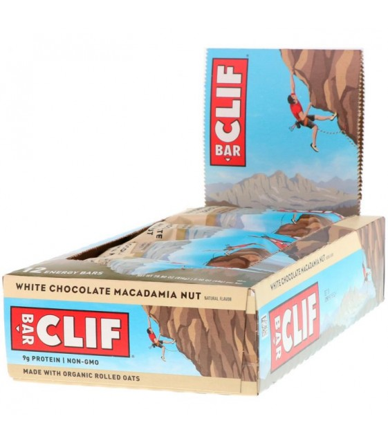 Clif Bar, Energy Bar, White Chocolate Macadamia Nut 68 g