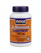 D-MANNOSE 500 MG, МАННОСА 120 ВЕГ.КАПС, NOW