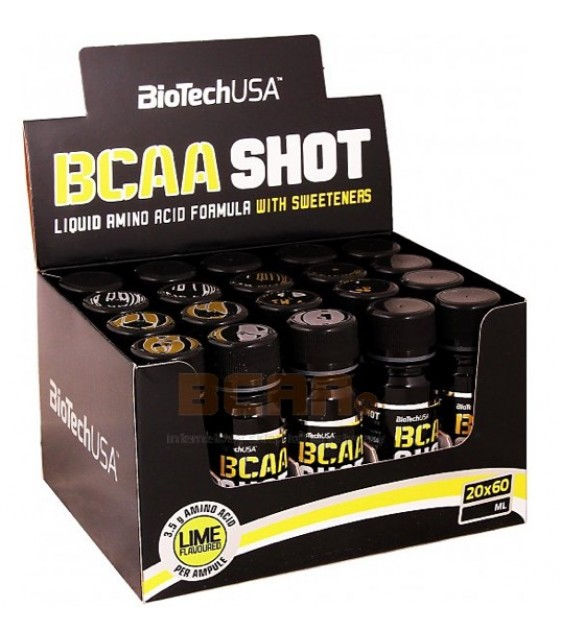 BCAA Shot, БЦА шот, 60 мл/20 шт Biotech USA
