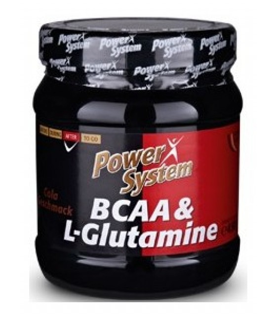 BCAA& L-glutamine БЦА и L-глютамин, 450 гр Power System