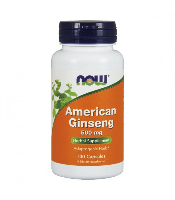 American Ginseng, Женьшень Американский 500 mg, 100 caps NOW