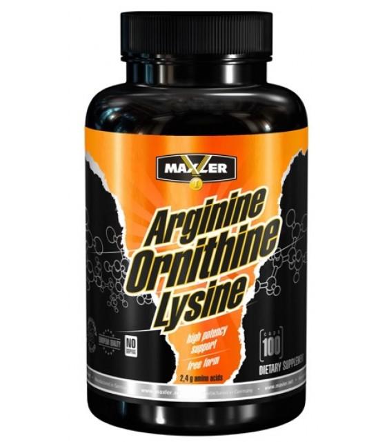 Arginine Ornithine Lysine, 100 капс. Maxler