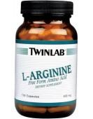 L-Arginine 500 мг, 100 капс Twinlab