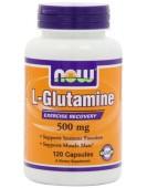 L-Glutamine, Глютамин 500 мг/120 капс. NOW