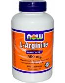 L-Arginine Аргинин 500 мг 250 капс NOW