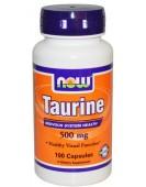 Taurine, 500 мг/100 капс NOW Food