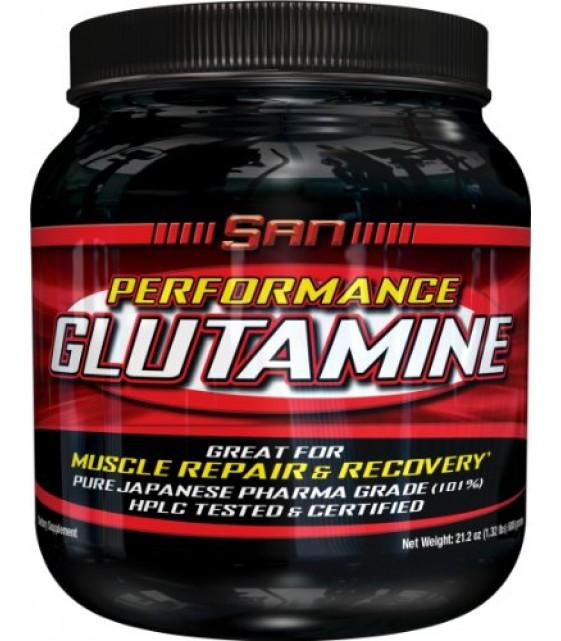 Performance Glutamine, Перфоманс глютамин 300 гр. SAN