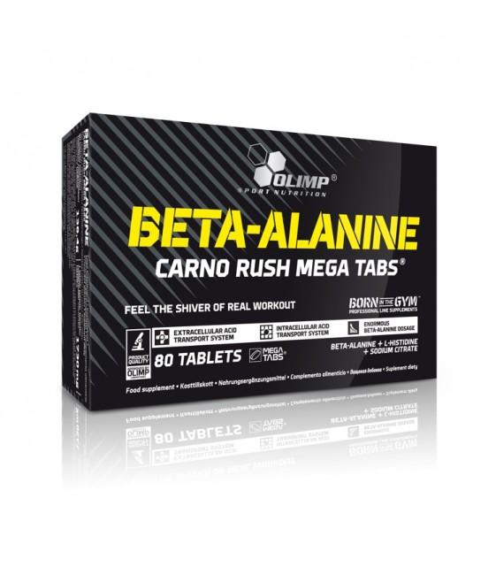 Beta-Alanine Carno Rush Mega Tabs Бета-Аланин, 80 таб
