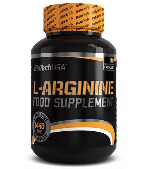 L-Arginine Аргинин 1650 мг/90 капс Biotech USA