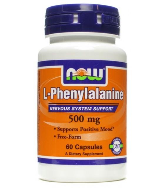 L-Phenylalanine Фениланин 500 мг, 120 капс NOW Food