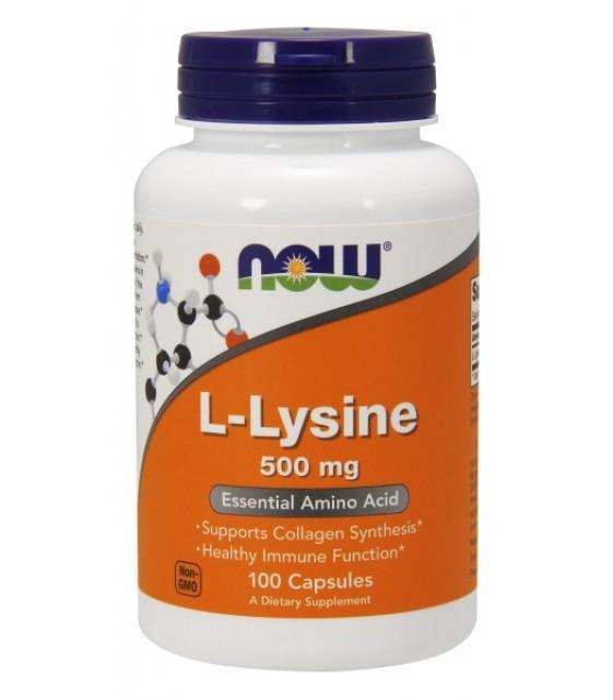 L-Lysine Лизин, 500 мг 100 капс NOW