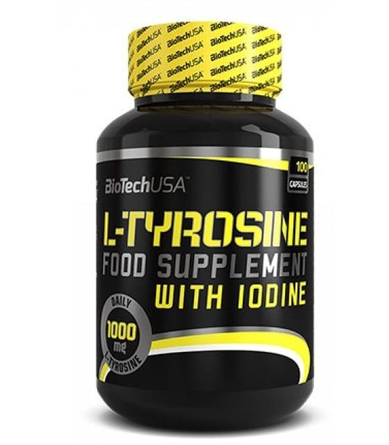 L-Tyrosine Тирозин  500 mg/100 капс, Biotech USA