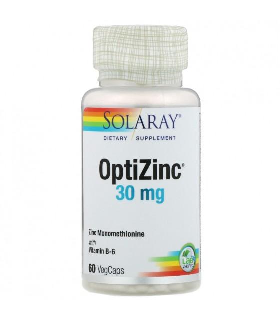 OptiZinc 30mg 60 vegcaps, Solaray