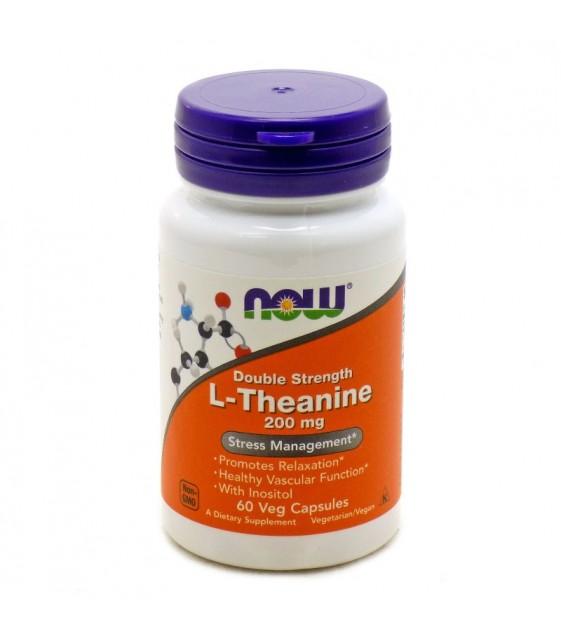 L-Theanine, L-Тианин 200 мг  60 кап. NOW
