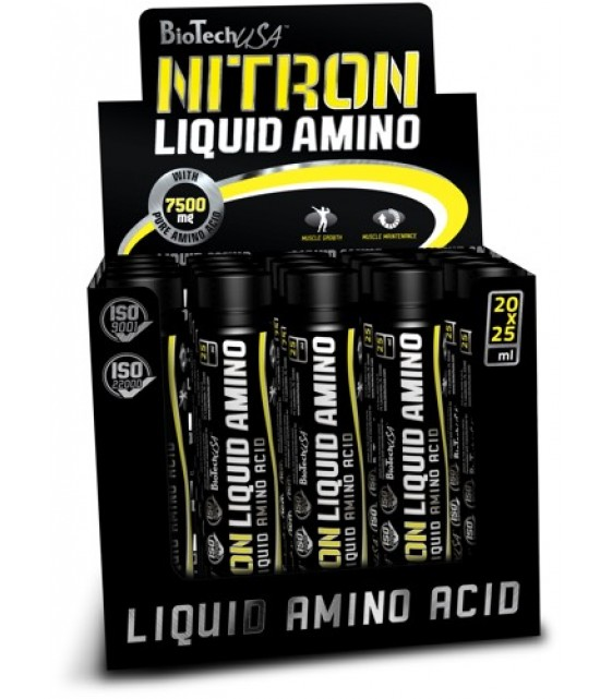 Liquid Amino, Ликвид Амино 25 мл/20 шт. Biotech USA