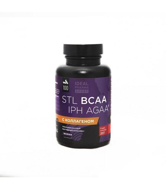 BCAA Collagen IPH AGAA аминокислотный пептидный комплекс для женщин 100 капс STL