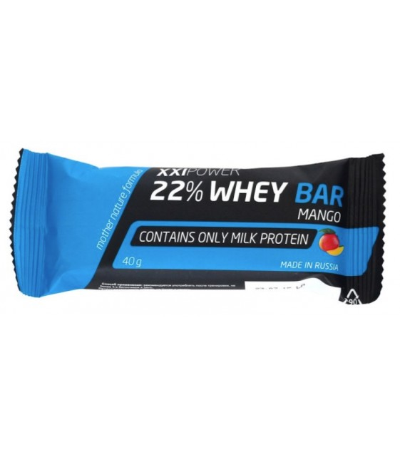 22% Whey Bar (изолят) батончик, 40 гр XXI Power