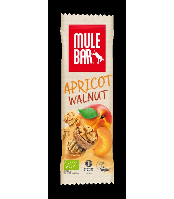 """Mule Bar """"Орех Хунза"""" с абрикосом и грецким орехом, органический злаковый батончик 40 гр"""