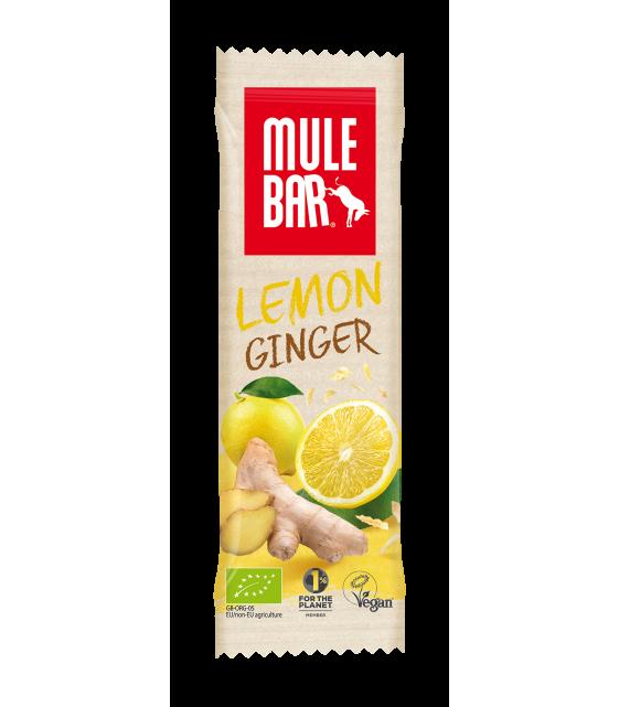 Mule Bar Задорный лимон, лимон с имбирем, органический злаковый батончик 40 гр