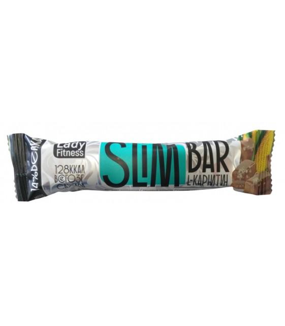 Slim Bar кукуруза-соленая карамель 35 г  Lady Fitness