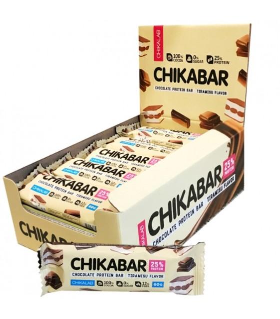 Chikabar Протеиновый батончик в шоколаде 60 гр. Тирамису с молочной начинкой