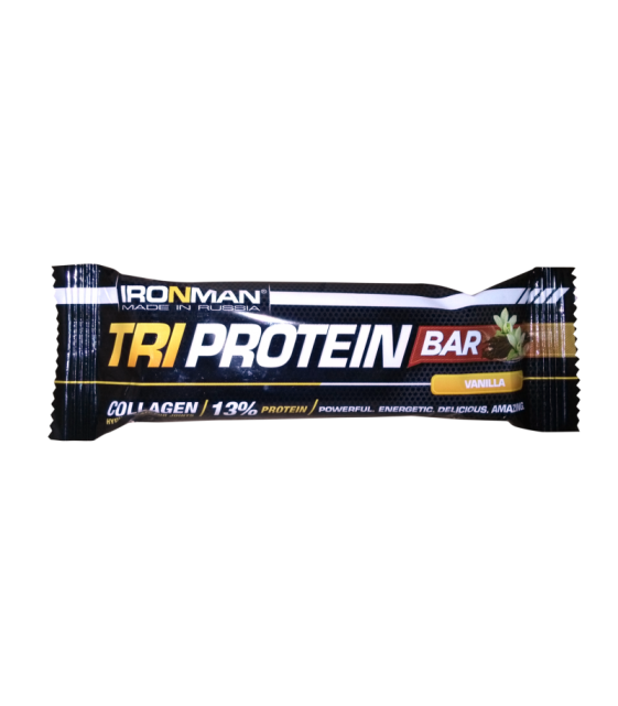 TRI Protein bar протеиновый батончик, 50 г Ironman