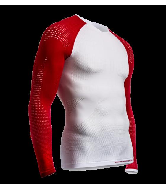 Майка ON/OFF Multisport с длинным рукавом, красно-белая