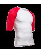 Майка ON/OFF Multisport с коротким рукавом, красно-белая