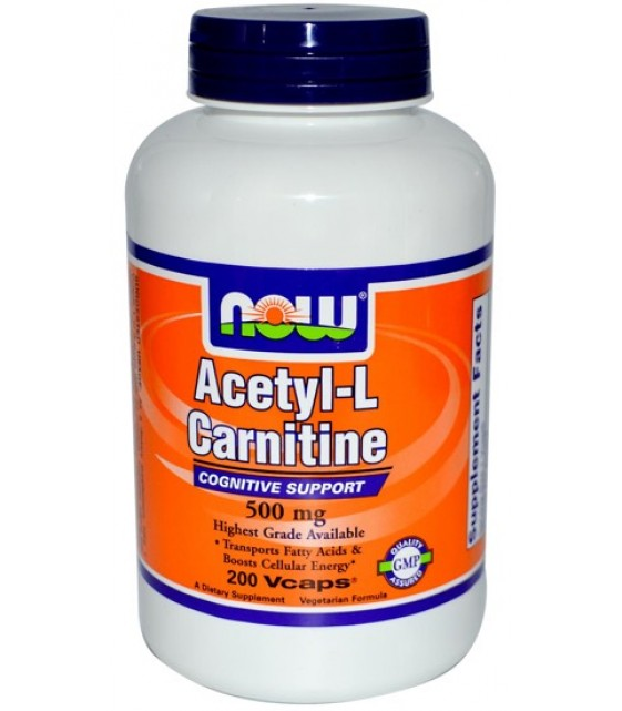 Acetil-L-Carnitine Ацетил Л-карнитин 500 мг, 50 капс
