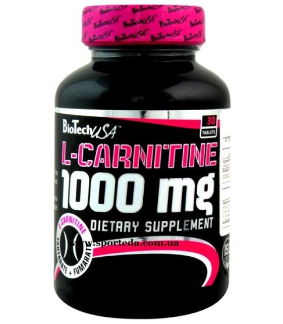 L-Carnitine L-карнитин 1000 мг/60 таб Biotech USA