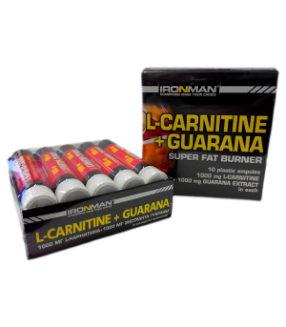 L-Carnitine + Гуарана, 9 амп./20 мл XXI Power