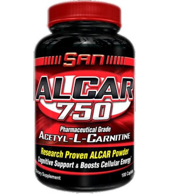 ALCAR Ацетил-L-Карнитин 750 мг/100 таб SAN