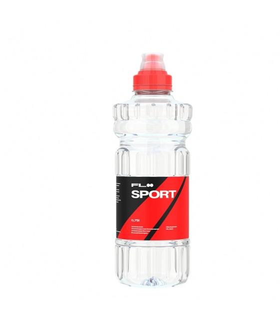 FLOO SPORT c pH 7,8 - Вода минеральная природная негазированная, обогащенная Био-Селеном, 0,75 л спорт лок
