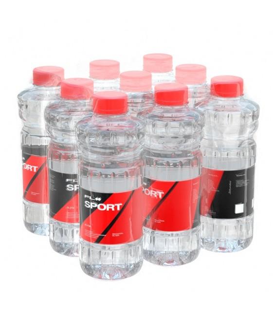 FLOO SPORT с pH 7,8 Вода минеральная природная негазированная, обогащенная Био-Селеном, 9х0,75 л