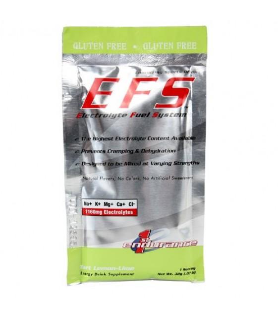 EFS Electrolyte drink, коробка х 10 пак.  – изотонический электролитный комплекс, Лимон-Лайм
