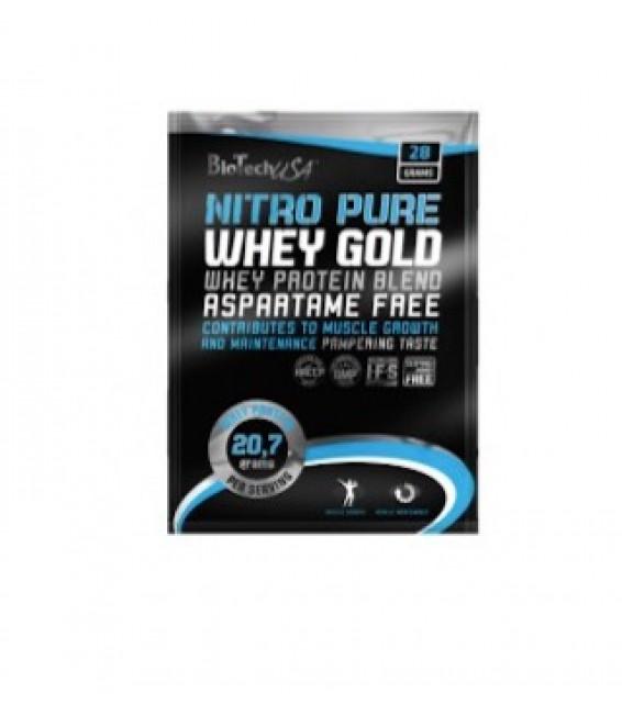 Nitro Pure Whey Gold, Нитро Пьюр 28 гр. Biotech