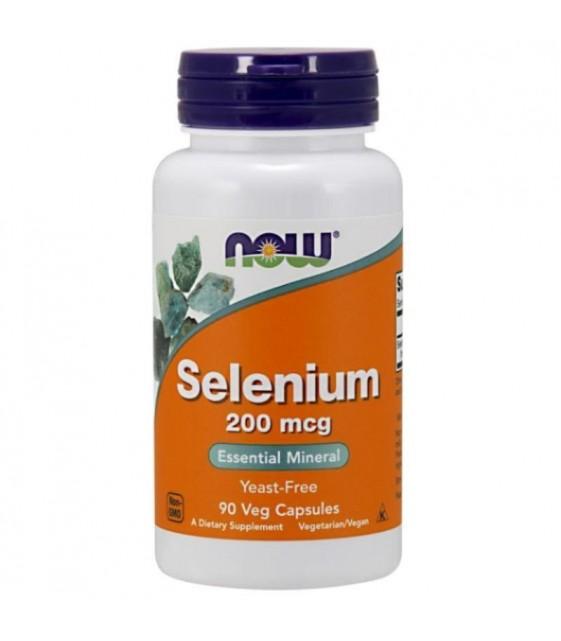 Selenium methionine Селен 200 мкг/90 капс NOW