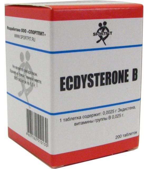 Экдистерон B, Ecdysterone B 2,5 мг 200 таб. Sportpit
