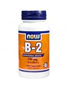 B-2 100 mg/ Витамин B-2 Pибофлавин, 100 капс. NOW