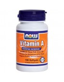 Витамин А 25000, 100 гел.кап. NOW