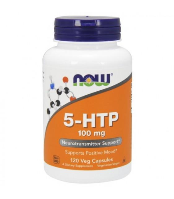5-HTP  5-гидрокситриптофан 100 мг, 120 вег. капс NOW