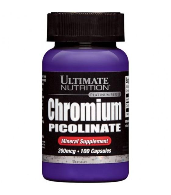 Chromium Picolinate Пиколинат хрома 200 мкг 100 капс. Ultimate Nutrition