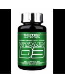 Vitamin D-3, Витамин Д-3 250 капс Scitec Nutrition