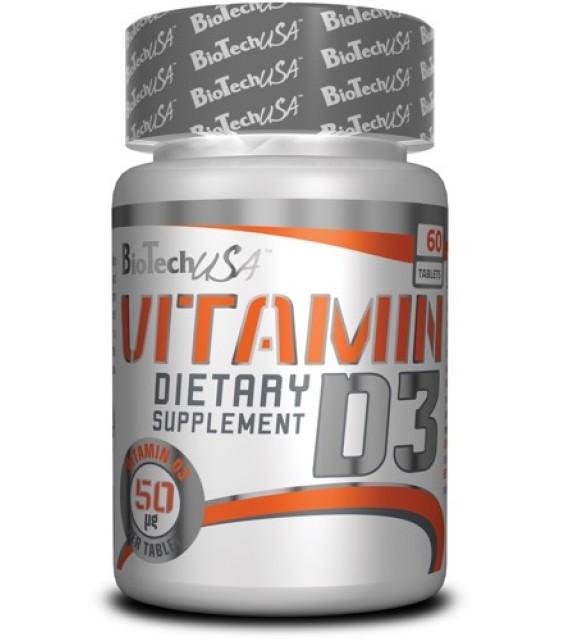 Vitamin D-3, Витамин Д-3, 60 капс Biotech USA