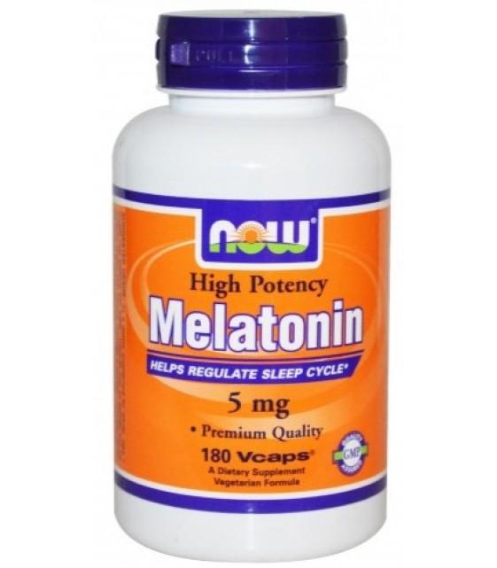 Melatonin Мелатонин 5 мг, 180 капс NOW