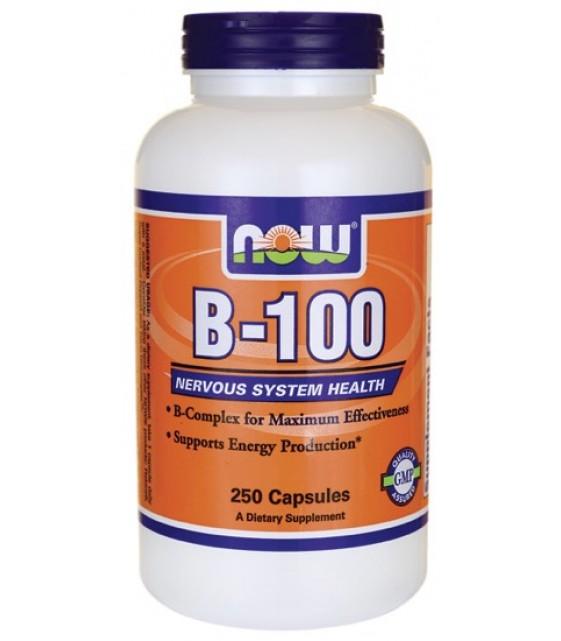 B-100 комплекс, 100 капс. NOW