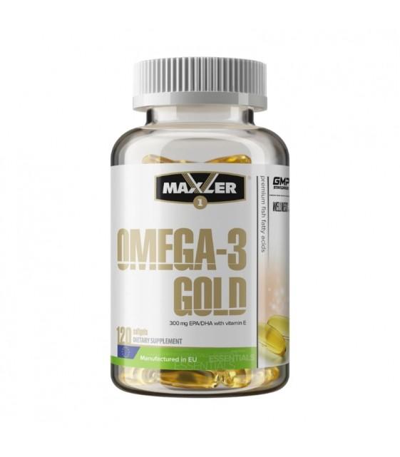 Omega-3 Gold Омега-3 Голд, 120 капс  Maxler