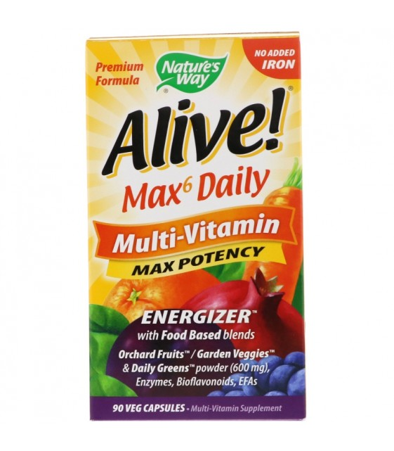 Alive! Max6 Daily, 90 caps, Nature's Way